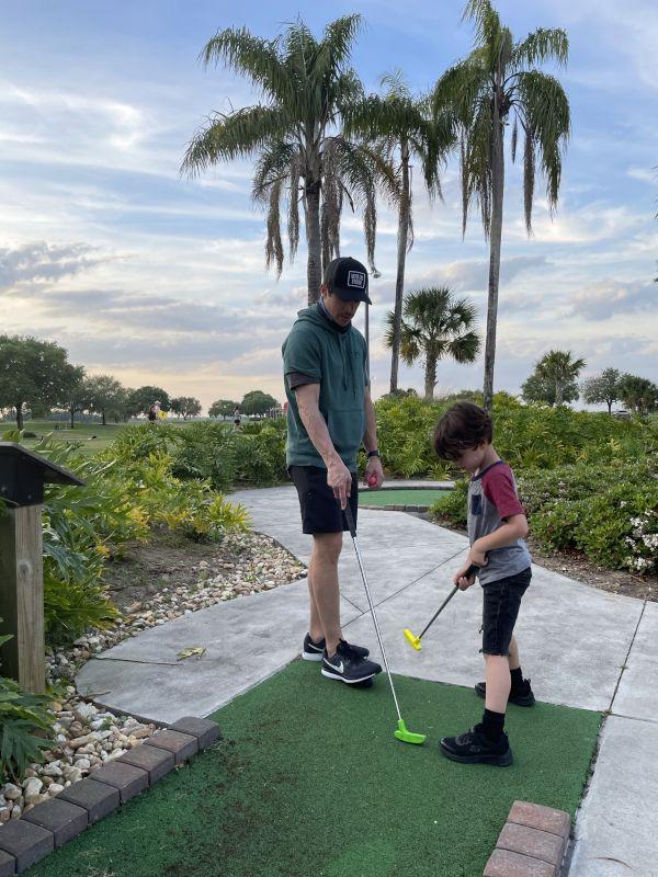 Augie & Dada Golfing