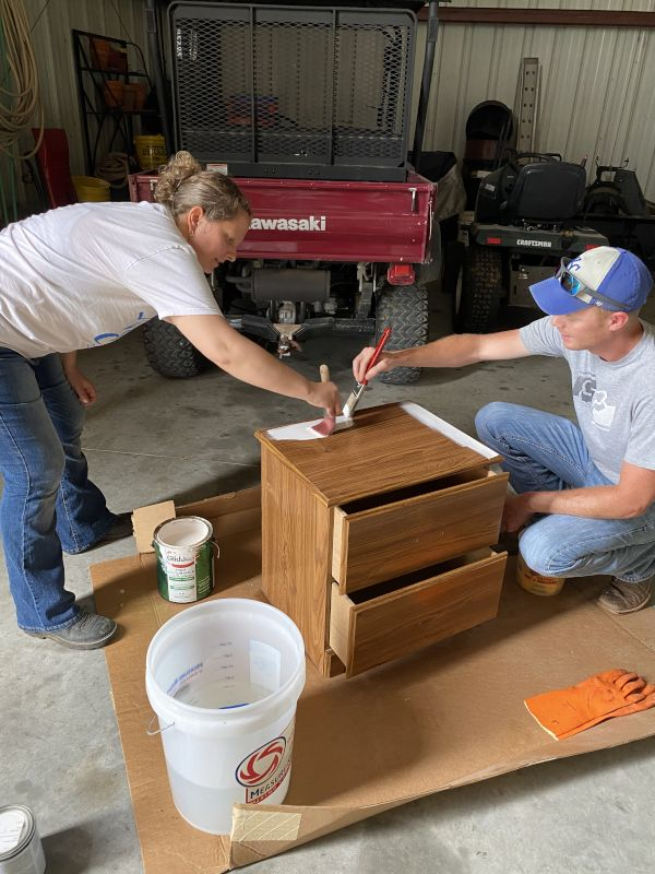 Refurbishing a Nightstand Together