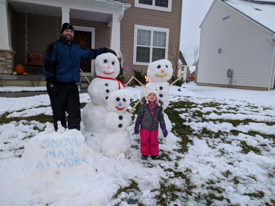 Making a Snow Family