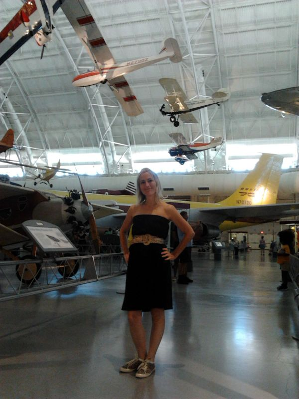 Caterina Exploring the Air & Space Museum