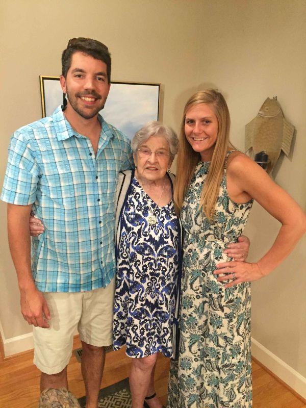Celebrating Katy's Grandmother's Birthday