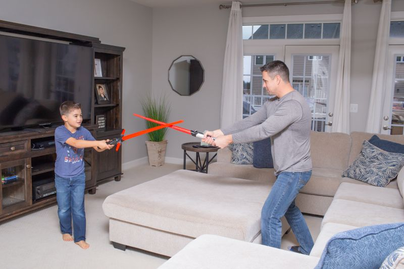 Light Saber Battles are a Daily Occurrence in Our Home!