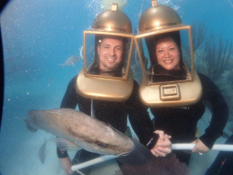 Helmet Dive in Aruba