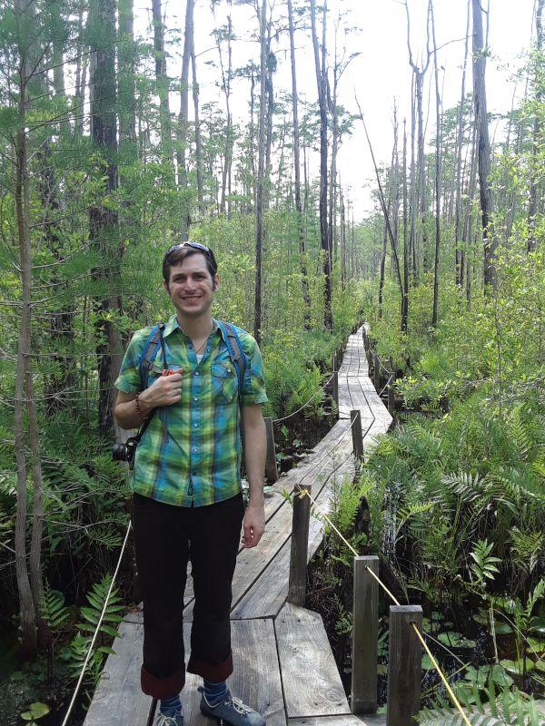 Andrew on Adventure in the Swamp