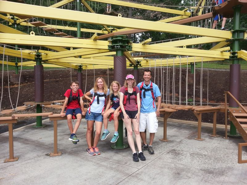 Fun on the Ropes Course with Family