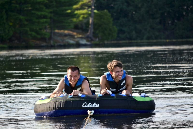 Rick & Our Nephew Ready for Tubing