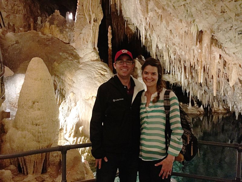 Exploring a Cave in Bermuda