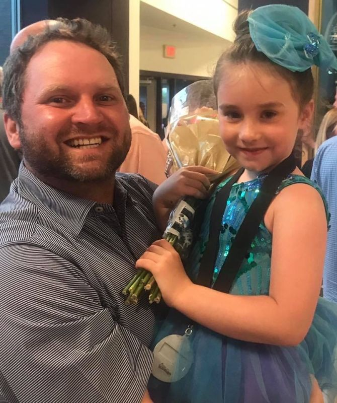 Uncle Chad Celebrating Emma at Her Dance Recital