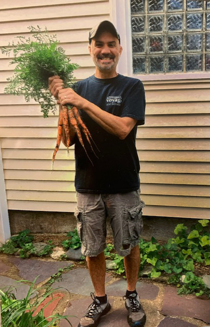 Jamie With Carrots From Our Garden
