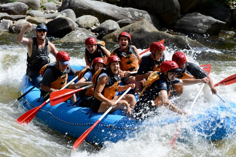 Whitewater Rafting With Family