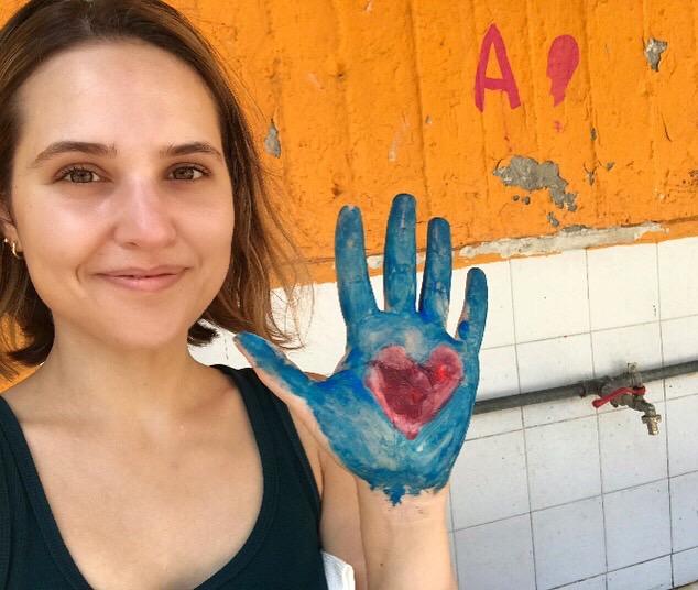 Katie Volunteering in Greece