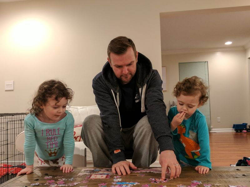 Puzzle Time With Our Niece & Nephew
