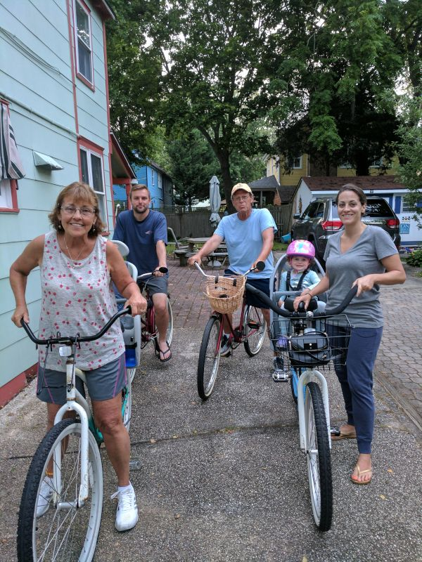 Family Bike Ride on Vacation