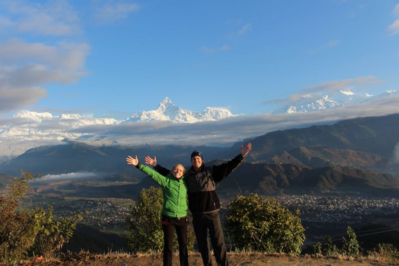 Early Morning Hike in Nepal