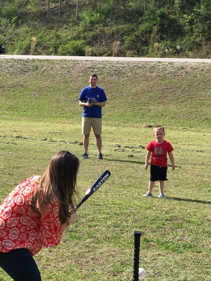 Playing Baseball with Our Nephew