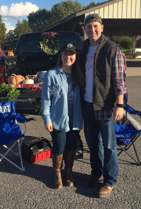Dressed Up as Chip & Joanna Gaines for Trunk-or-Treat