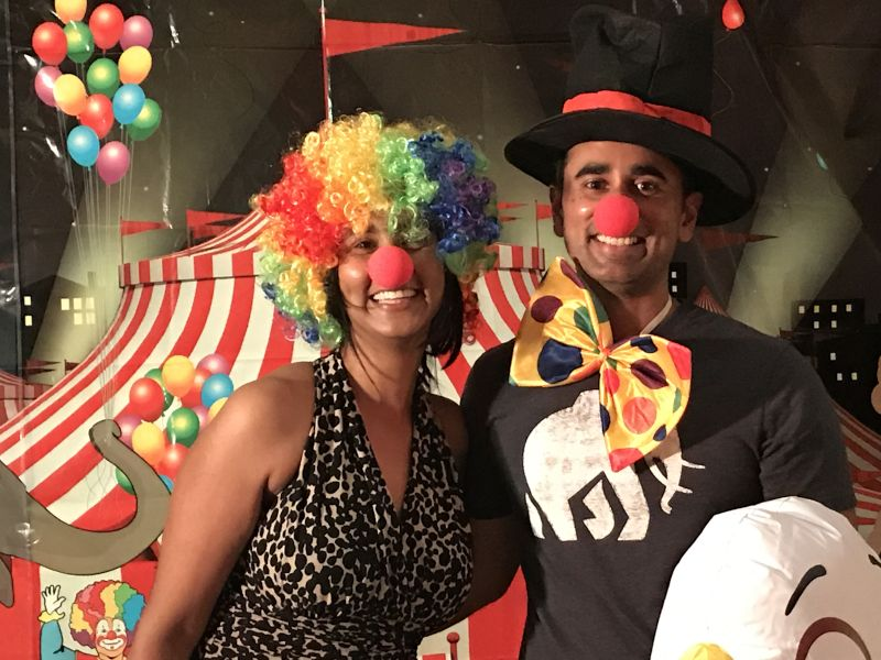 Clowning Around at a Circus-Themed Party