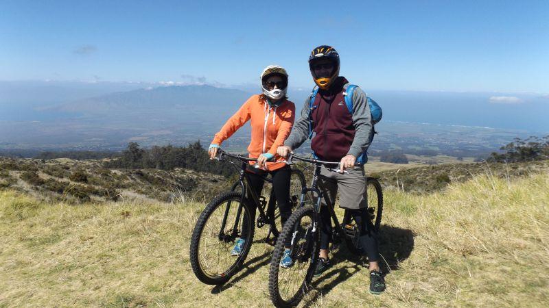 Biking Down Haleakala Volcano in Hawaii