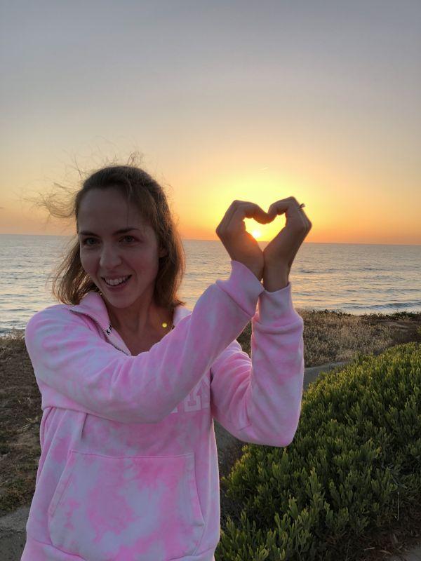 Sunset Heart Hands!