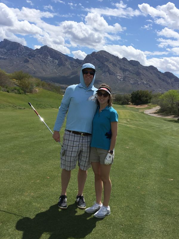 Golfing in the Beautiful Desert Together