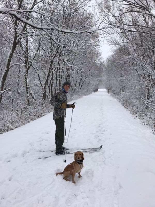 Cross Country Skiing on the Trail