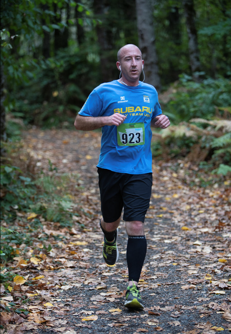 Matt in a Trail Race