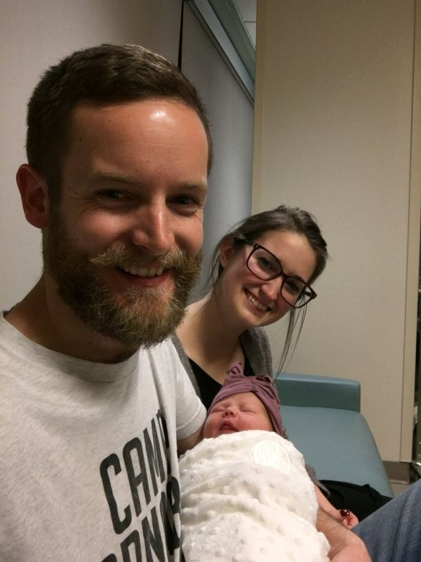 Holding Our Friend's New Baby