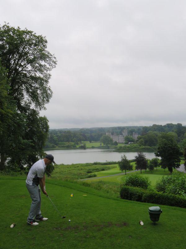 Aaron Golfing