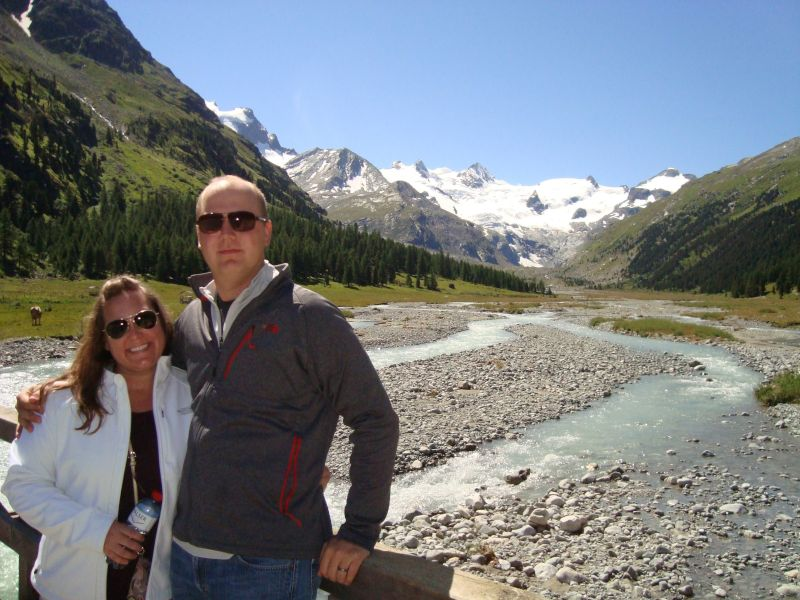 Visiting the Roseg Glacier in Switzerland