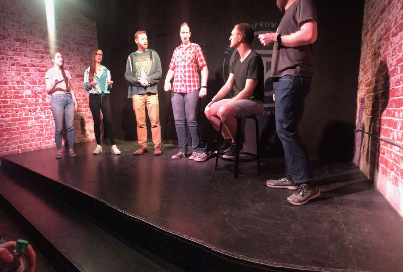 Mike Performing With an Improv Comedy Team
