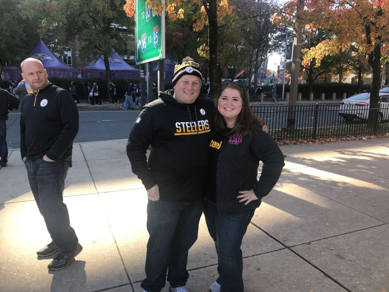 At a Steelers Football Game