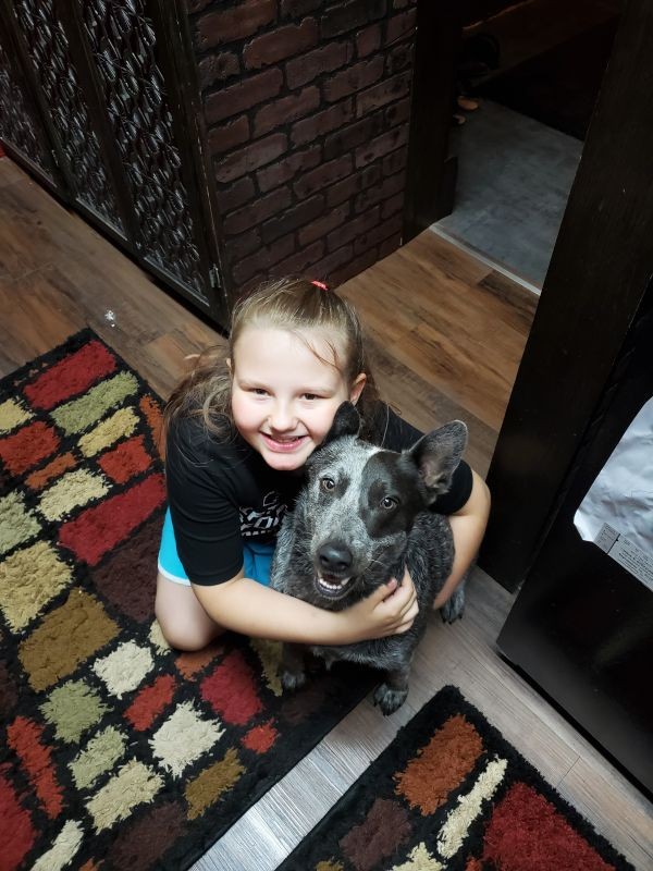 Our Niece & Our Dog