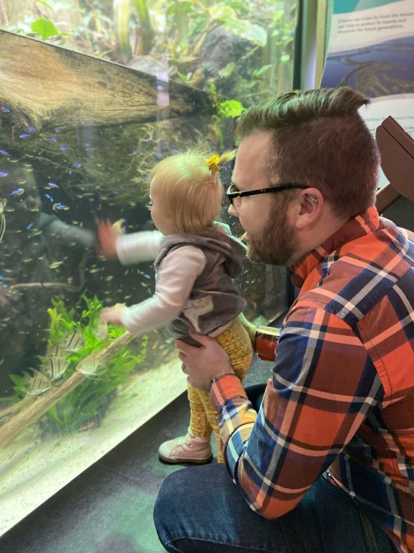 Curtis & Quinn at the Aquarium