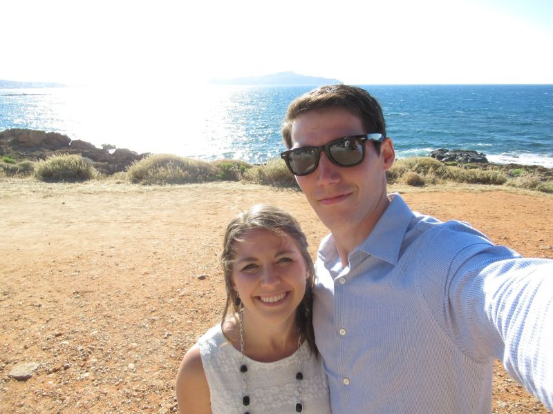 Enjoying the Sun in Crete