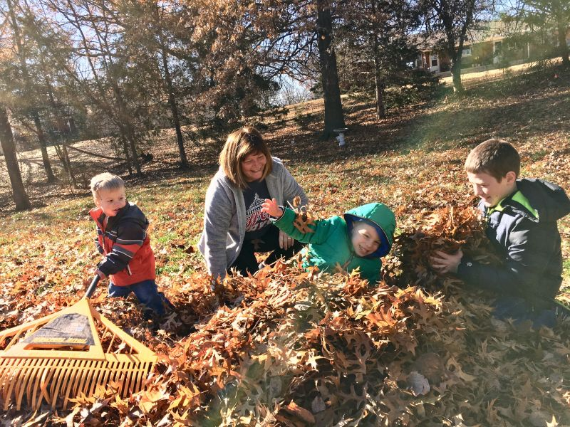 In the Leaves With Meemaw