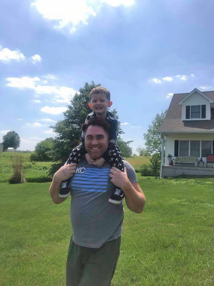 Shoulder Ride With Our Nephew