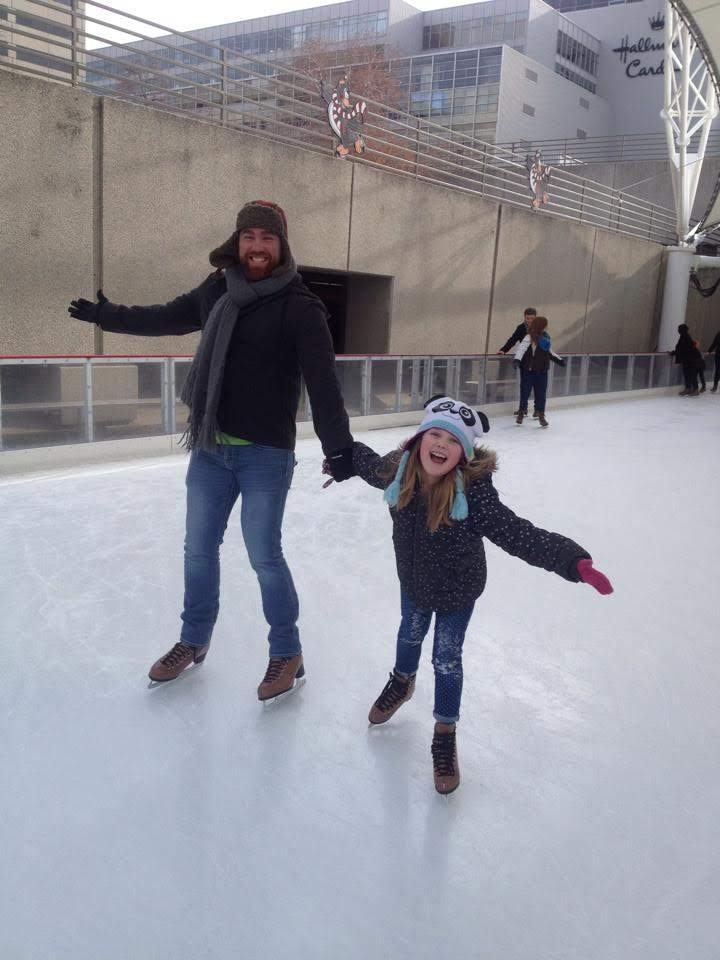 Ice Skating With Our Goddaughter