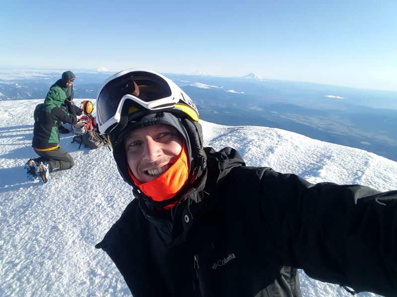 Jay at the Summit of Mt. Hood