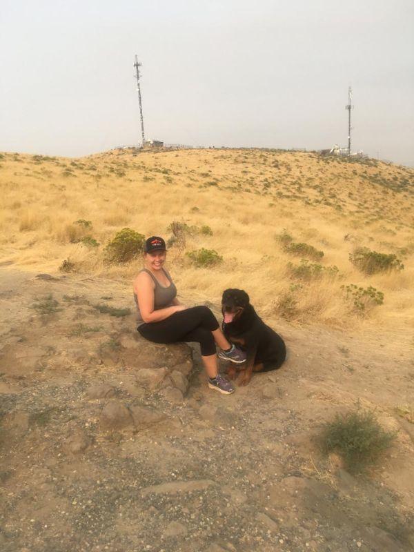 Chelsie Hiking With Duke