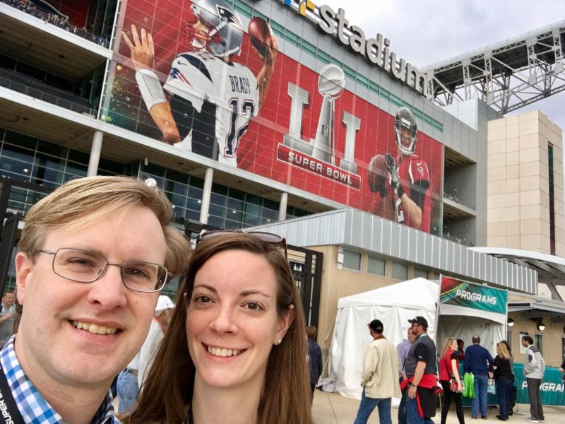 At the Super Bowl in Houston, Texas