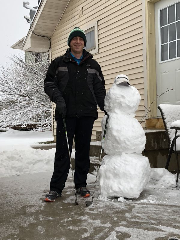Building a Snowman and Hoping for Golf Season!