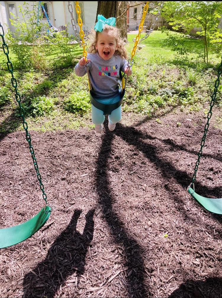 Fun on the Backyard Swingset