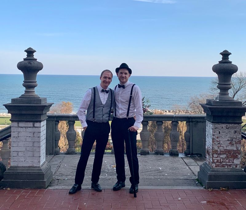 At a Roaring 20s Themed Wedding