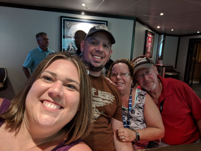 On a Cruise with Jon's Aunt & Uncle