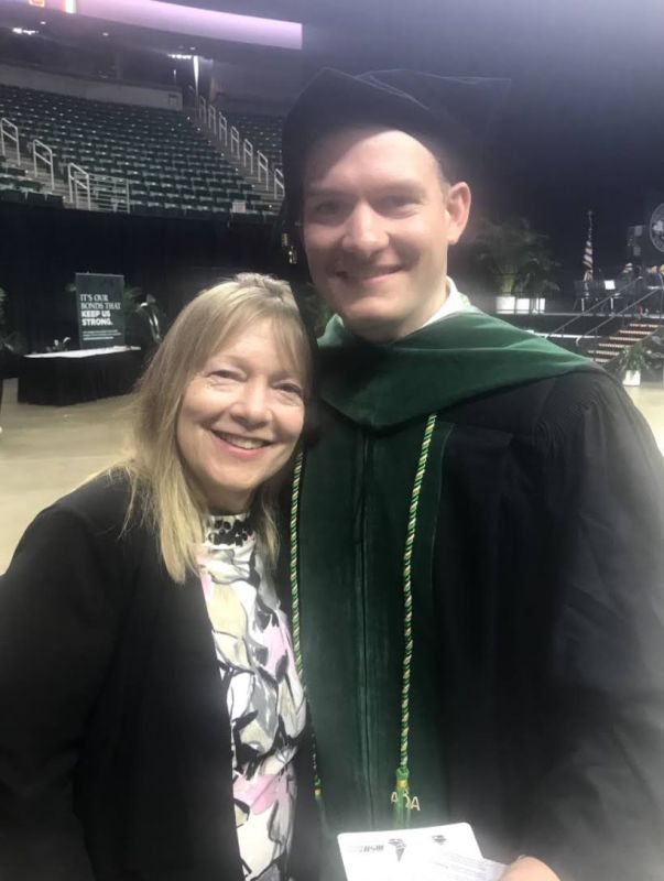 Drew & His Mom at His Graduation