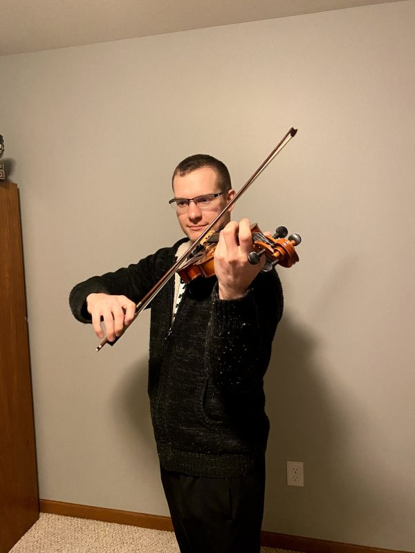 Drew Loves to Play Violin