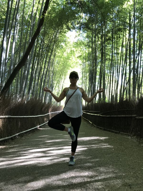 Tree Pose in a Bamboo Forest - Japan