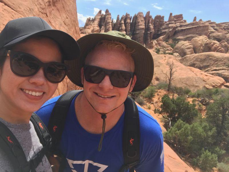 Hiking the Arches, Utah