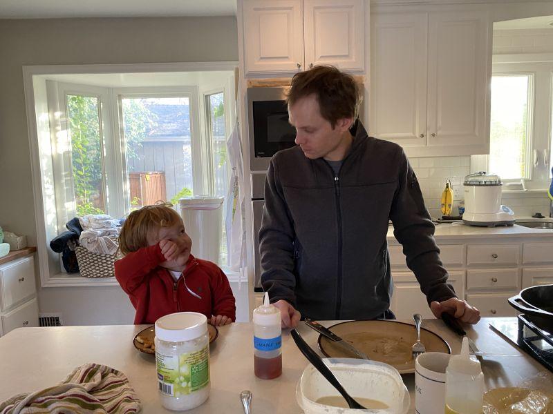 Saturday Pancakes - Dad's Specialty