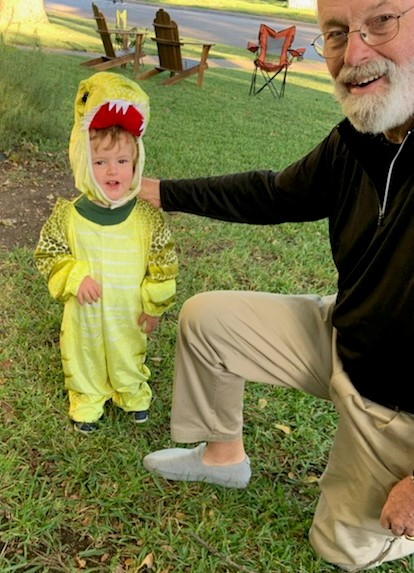 A Halloween Dinosaur with Papa